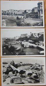 3-1930-Realphoto-Postcards-BIARRITZ-Aquitaine-France