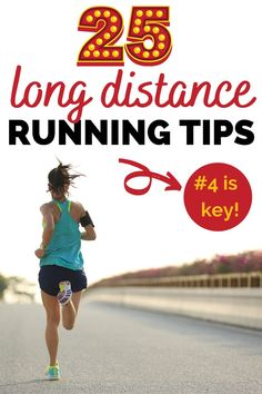 Getting into long distance running?  Find 25 helpful running tips, perfect whether you're a beginner runner or advanced runner that's looking to run longer distances.  These tips are great for half marathon, marathon, or ultra runners. Health And Fitness Articles, Health Tips, Health Fitness, Yoga Fitness, How To Run Faster, How To Run Longer, Long Distance Running Tips, Half Marathon Training, Half Marathon Tips