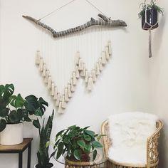 First custom piece of 2018 done ✔️ . . . . #custom #ooak #handmade #supporthandmade #shopsmall #etsy #etsyseller #makersmovement #makersgonnamake #2018 #radicalsoulscollective #homedecor #bohohome #bohemianstyle #driftwood #hemp #cream #yarn #yarnart #instaart #wallart #wallhanging #tapestry #tassels #fringe #plants #monstera #sanluisobispo