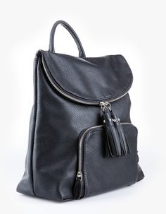 At Stradivarius you'll find 1 Backpack with tassel detail for woman for just 1790 MKD . Visit now to discover this and more BAGS.