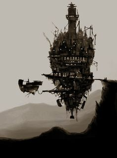 Steampunk Tendencies - Reminds me of Howl's Moving Castle Ville Steampunk, Steampunk Kunst, Steampunk Airship, Elfen Fantasy, Sci Fi Fantasy, Fantasy World, Design Steampunk, Steampunk Fashion, Diesel Punk