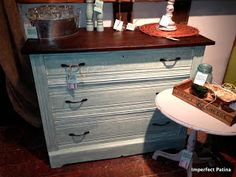 Annie Sloan Duck Egg Dresser - Imperfect Patina