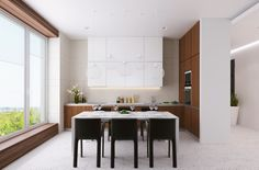 The interiors of apartments 140m in LCD Mirax park, Architectural Bureau of Alexandra Fedorova