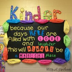 Inspirational Bulletin Board use for kindergarten board student teaching