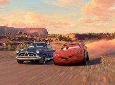 Doc Hudson and Lightning McQueen, Cars