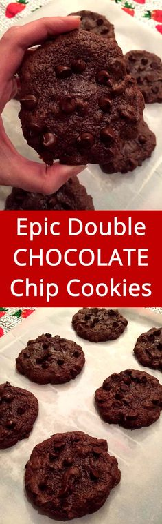 These are so soft and chewy! They turned out perfect! This is my favorite double chocolate chip cookies recipe!