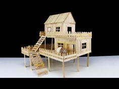 In this video I show you how to make popsicle stick house for your rat, guinea pig or hamster! For this house I used near 600 popsicle sticks. Thanks for wat...