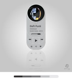 Music Player UI by Gala Turman, via Behance