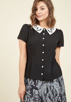 Hell Bunny Fortune Favors the Cave Button-Up Top