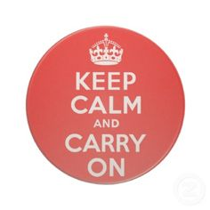 Keep Calm and Carry On Red Drink Coaster