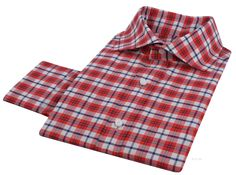 Luxire dress shirt constructed in Oxford: Red Navy Madras: http://luxire.com/products/ah-red-navy-white-tattersall-madras-checks-54286_oxford  Consists of soft roma cutaway collar and single button cuffs.