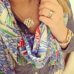 lilly, monogram, and chambray.