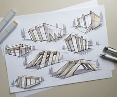 Some fast architectular exploration sketches. Some fast architectular exploration sketches. The post Some fast architectular exploration sketches. appeared first on Architecture Diy. Sketchbook Architecture, Model Architecture, Architecture Design Concept, School Architecture, Landscape Architecture, Interior Architecture, Portfolio D'architecture, Architectural Sketches, Behance