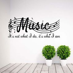 Fashion Wall Removable Stickers Music Musical Notes Decal Sticker Home Decor
