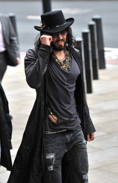 Russell Brand what hes wearing is kinda awsome