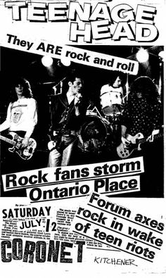 Teenage Head Rock N Roll, Concert Posters, Movie Posters, Dracula, Good People, Punk Rock, Good Music, Banners, Teen