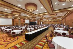The Windsor Ballroom at the La Vista Conference Center has the ability to divide into 10 separate meeting spaces at once, giving it the versatility to host events of all sizes!