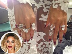 Looking good, Beyonce! The star wore over $10 million in #diamond jewels by Lorraine Schwartz to this year's Grammy Awards, including 50-carat waterfall diamond earrings and her 18-carat emerald-cut diamond wedding ring.