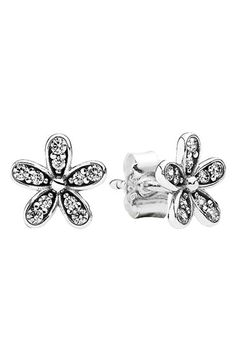 PANDORA 'Dazzling Daisy' Mini Stud Earrings available at #Nordstrom