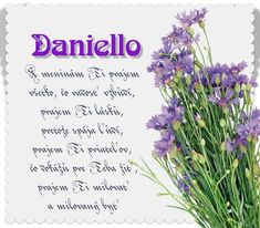 Daniello - prianie k meninám