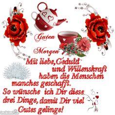 Sweet good morning greetings to post - Guten Morgen - Frühstück Watercolor Birthday Cards, Creating Positive Energy, Night Gif, Life Lyrics, Good Morning Greetings, Today Show, Recipe Of The Day, Holiday Decor, Gb Bilder
