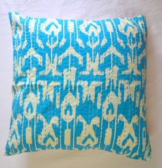 Hey, I found this really awesome Etsy listing at https://www.etsy.com/listing/224370033/16-x-16-throw-pillow-in-turquoise-ikat