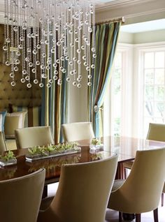 Bubble drop chandelier design by @Tobi Fairley