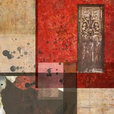 connoted mobility: Digital collage, 38 layers , from my 2016: Factors series. #red #collage #digital #doors #portals