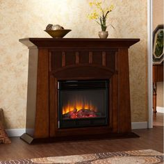 Electric Fireplace System Living Room Furniture TV Stand Entertainment Heater in
