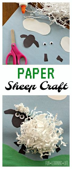 Paper Sheep Craft Inspired by Shaun the Sheep: Animal Antics DVD! - Fun Learning Life - Paper Sheep Craft Inspired by Shaun the Sheep: Animal Antics DVD! Farm Animal Crafts, Sheep Crafts, Farm Crafts, Easter Crafts, Diy Crafts, Lamb Craft, Art For Kids, Crafts For Kids, Shaun The Sheep