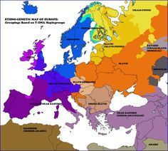 Ethno-genetic map of Europe