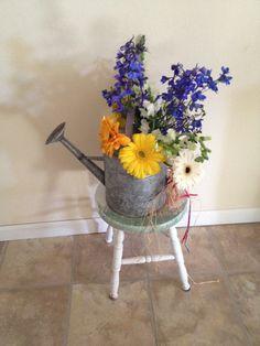 Western party flower arrangement