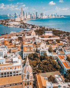 Honeymoon Destinations High above Cartagena, Colombia Backpacking South America, Backpacking Asia, Colombia Country, Weather In India, Colombia Travel, India Travel, Travel Inspiration, Places To Visit, Around The Worlds