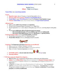 Peripheral Nerve Injuries Study Guide page 5