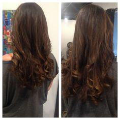 Soft Chocolate ombre balayage with caramel tones Marylyn Toney - Rachael Davis Hair Studio, Newport News Virginia