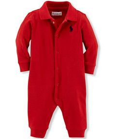 Ralph Lauren Baby Boys' Classic Polo Coverall