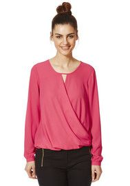 F&F Wrap Front Blouse