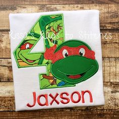 Ninja Turtle Birthday Shirt 1 9 By RissasRagstoStitches On Etsy