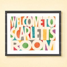 Welcome large personalised kids' print