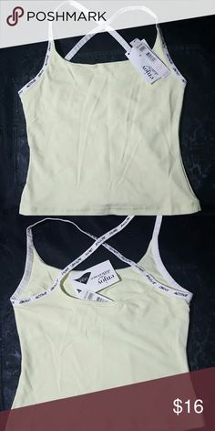 DKNY 2 tank tops Light yellow and blue active work out yoga or casual wear tanks with built in bra. DKNY Tops Tank Tops