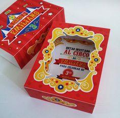 Circus Box Birthday Invitation by PaperCute on Creative Market
