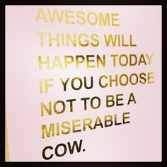 """Hahaha!  This made me laugh out loud!  Not, lol-""""I kinda smiled"""" but actual laughing.  But it's also really true. Life is hard sometimes but our attitude and how we choose to react to what is thrown our way can make all the difference.  Back to school has been ROUGH for us and I have been a miserable cow so here's to  changing my attitude! #anyadviceongettinga4yearoldtonapiswelcome"""
