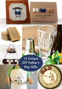 13 Unique DIY Father's Day Gifts He'll Love via diycandy.com. #celebrate #FathersDay #DIY