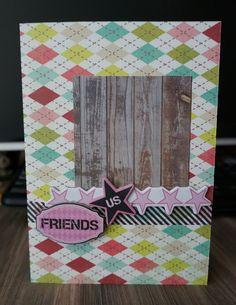 365cards DT work  Thrusday's Up! - So Big Washi, woodgrain, friends