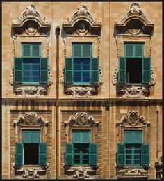 A detail of the Auberge de Castille in Valletta, Malta