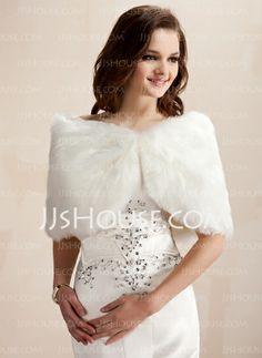 Faux Fur Wedding Wrap Beautiful Wraps for Weddings or Special Ocassions Reduced Wedding Fur, Wedding Wraps, Wedding Shawl, Vestidos Fashion, Fashion Dresses, Faux Fur Stole, Faux Fur Wrap, Dress With Shawl, Warm Dresses