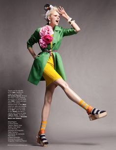 """Dani Seitz in """"Candy Colour"""" Photographed by Benjamin Kanarek and Styled by Paulo Macedo for Vogue Portugal, April 2012 Foto Fashion, Fashion Shoot, Editorial Fashion, Fashion Models, Sporty Fashion, Womens Fashion, High Fashion Poses, Fashion Photography Poses, Fashion Photography Inspiration"""