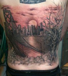 Black And Blue Tattoo, San Francisco -- Kristina California Tattoos, Black And Blue Tattoo, Bridge Tattoo, Tattoo Ideas, Tattoo Designs, Beautiful Body, Cool Tattoos, Bodies, Body Art
