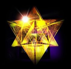 A Merkaba is a star Tetrahedron consisting of two interpenetrating three-sided pyramids that form a three-dimensional Star Of David.