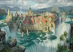 james gurney waterfall - Google Search